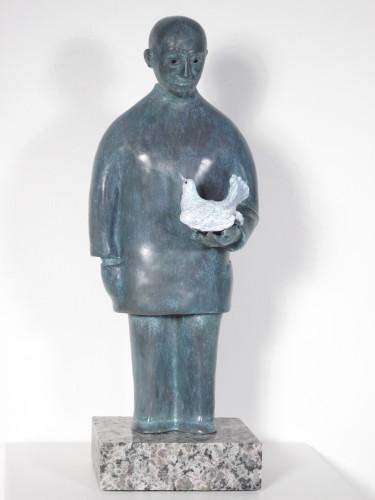 "Reinhard Skoracki ""With My Wings I Split The Air and Sky Effortlessly"" Bronze Statue"