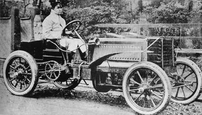 Charles Jarrott on a 1902 Panhard