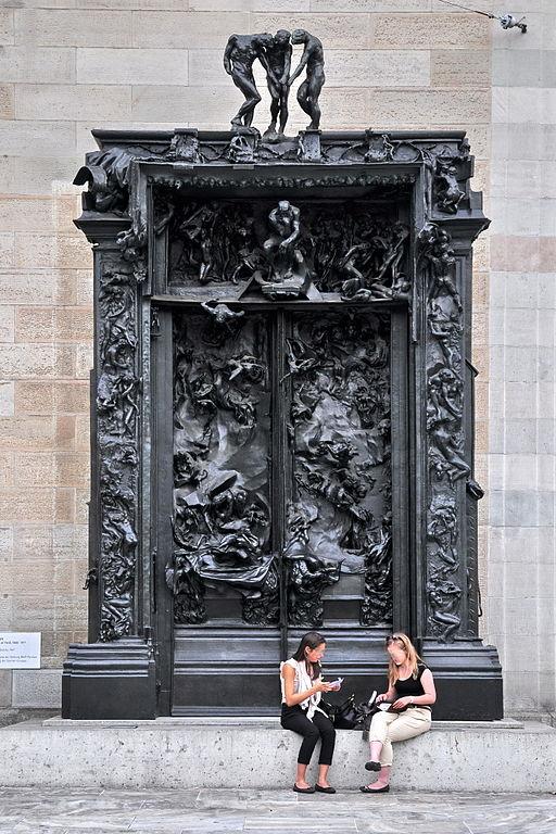 Sculpture Auguste Rodin's 'La Porte de l'enfer