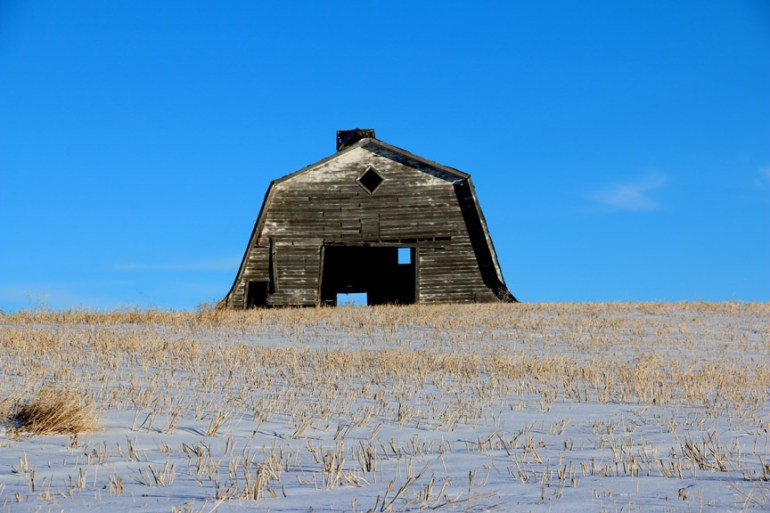 Prairie Barn Photograph Bob Agar Winter 2016