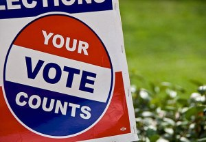 vote sticker Credit: Renee Silverman on Flickr, under Creative Commons