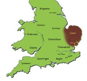 Iceni location map