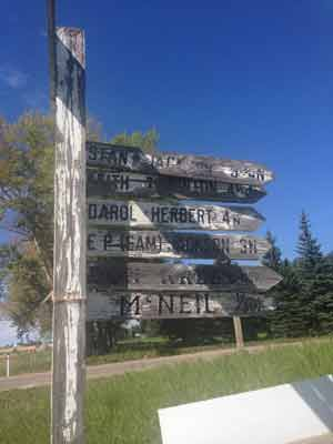 Sign Post to The Farms