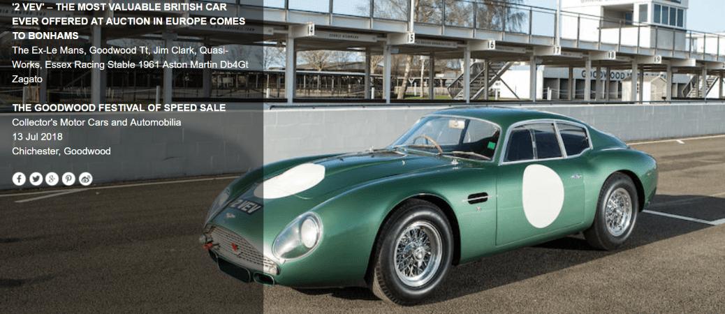 "The Unobtainables- Aston Martin DB4 GT Zagato ""2 VEV"""