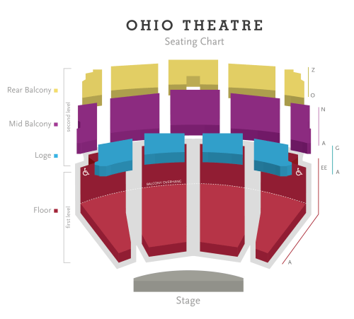 small resolution of ohio theatre seating chart png