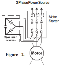 wiring diagram for star delta motor starter mazda bongo connection diagrams factor correction capacitors kvar guide figure 1 is the preferred to use when possible if 2 used overload relay heater coils must be resized