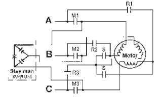 Connection Diagrams for Factor Correction Capacitors