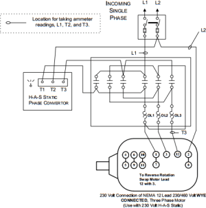 HAS Static Phase Converter Installation Diagrams