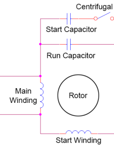 Circuit diagram of motor start and run capacitor also starting guide rh capacitorguide