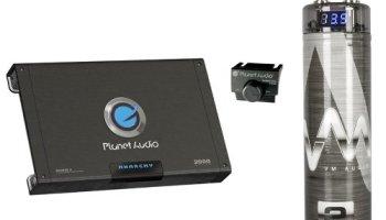 Planet Audio AC15001M 1500W MONO Car Amplifier+ 2 0 Farad