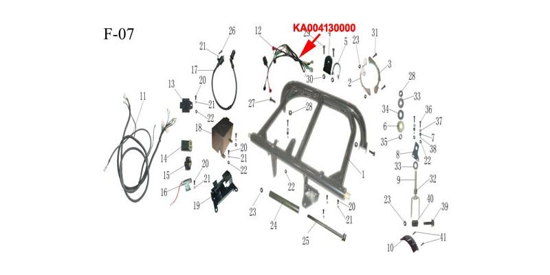 Kinroad 150cc SUB-WIRING HARNESS