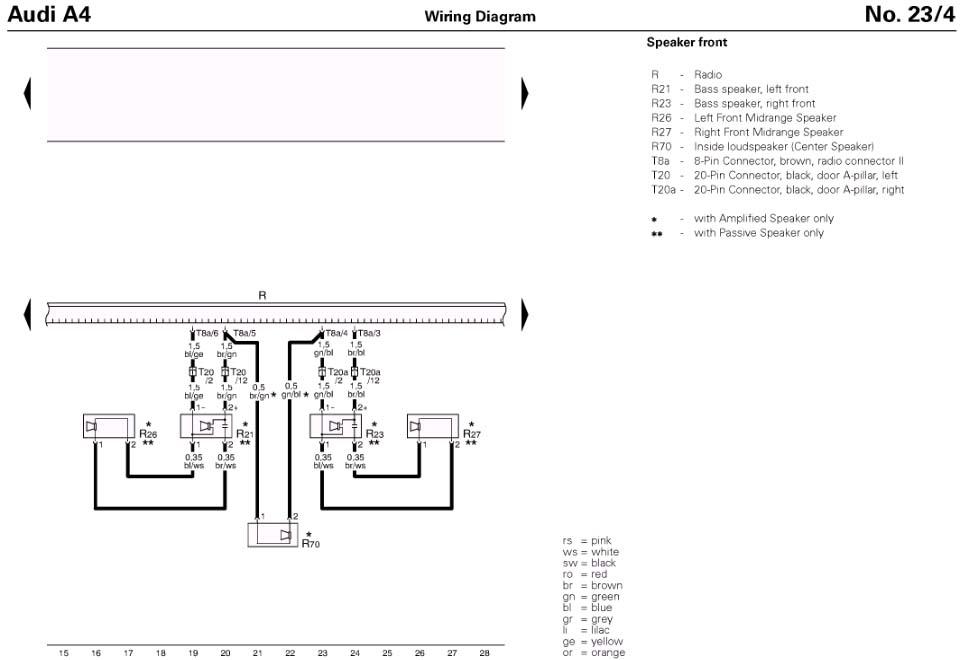 Amp Wiring Diagram Audi A3. Audi. Auto Wiring Diagram