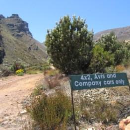 Matroosberg Peak 4x4-route Road-sign