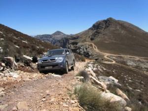 4x4 up Matroosberg Peak above Groothoek Canyon, Matroosberg