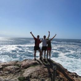 Chantelle, Trevor, David, Robberg Peninsula