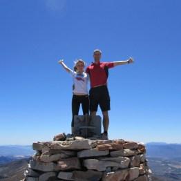 Summiting Matroosberg Peak