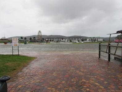 Flooded Knysna sports fields, Knysna Forest Marathon 2012