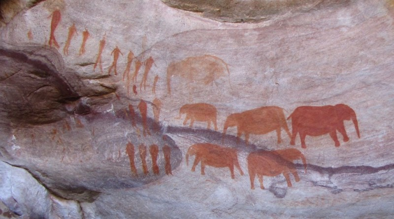 Bushman paintings near Stadsaal, Central Cederberg