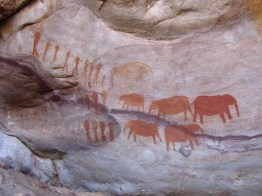 Bushman paintings near Stadsaal, Central Cederberg