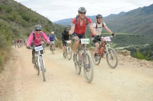 The big climb, Karoo to Coast MTB Challenge 2012