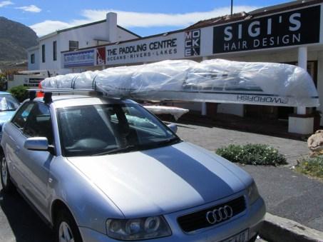 Loading up my new Fenn Swordfish at The Paddling Centre