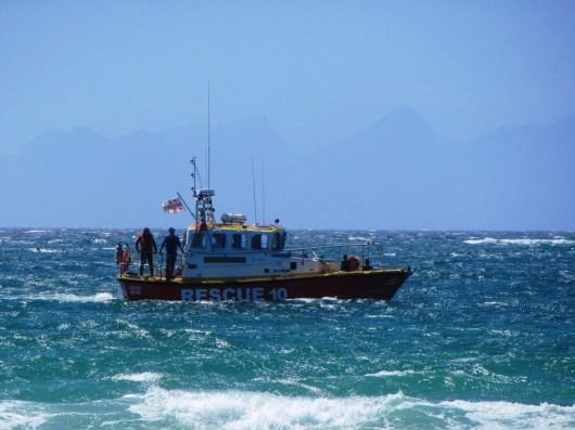 NSRI on duty off Fish Hoek Beach