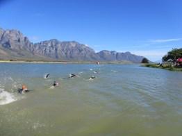 Slanghoek Triathlon swim 2012