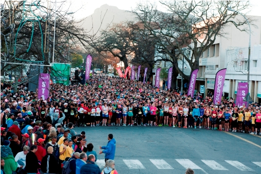 Participants enjoying the 2012 Totalsports Ladies Race in Stellenbosch. Photo Credit ~ Cherie Vale / NEWSPORT MEDIA
