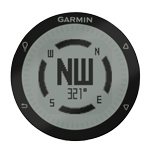 Garmin fēnix magnetic compass display screen
