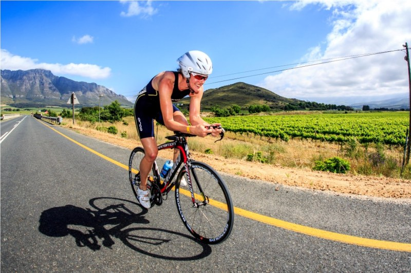 Kelly Van Der Toorn (Big Bay) was the participant to beat in the women's category of the Slanghoek Road Triathlon presented by Vital Health Foods at Breeland Cellar on Sunday, 27 October 2013. PHOTO CREDIT: Chris Hitchcock / PhotoSport