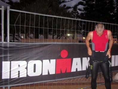 Suiting-up on race morning, IronMan South Africa 2014
