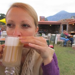 Latte in the outdoor section, Searle's Trading Post