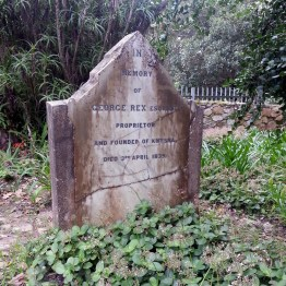 The grave of George Rex, Esquire