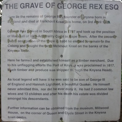 At the grave of George Rex, Esquire