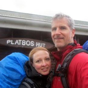 Arriving at Platbos Hut