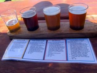Beer tasting at Saggy Stone Brewery