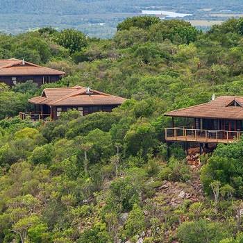 Kariega Main Lodge Aerial Lodge View