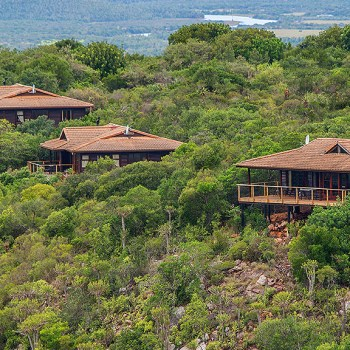 Kariega Main Lodge Aerial Lodge View