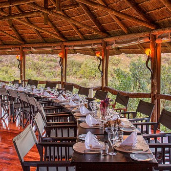 Lentaba Safari Lodge Outdoor Dining