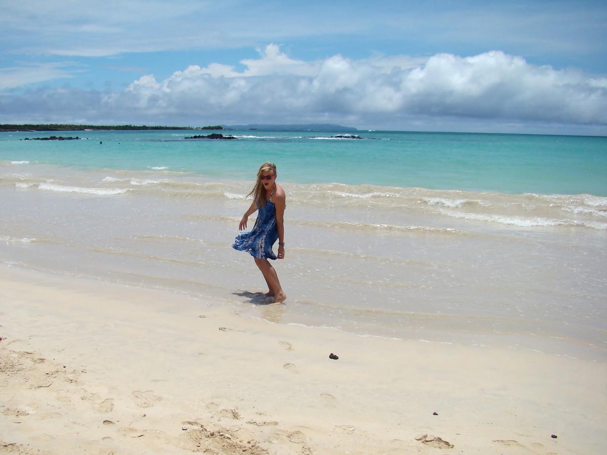 Santa Cruz Island beach Galapagos // Ecuador