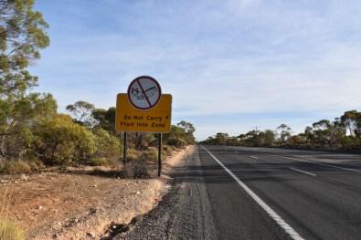 Fruit Fly Roadsign Victoria Australia