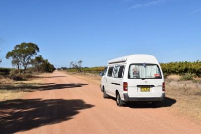 Dirt Road Mildura Victoria Australia