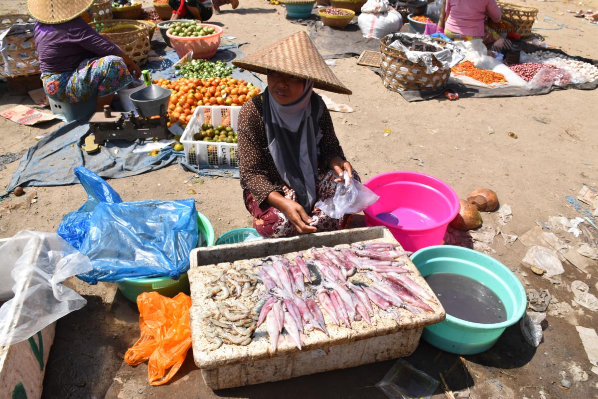 Indonesia Lombok Kuta Market