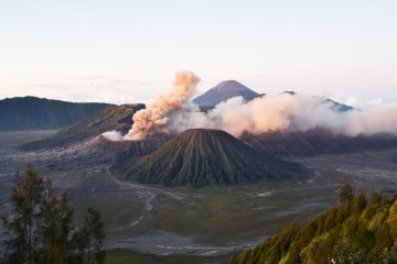 Indonesia Gunung Bromo Volcano Sunrise