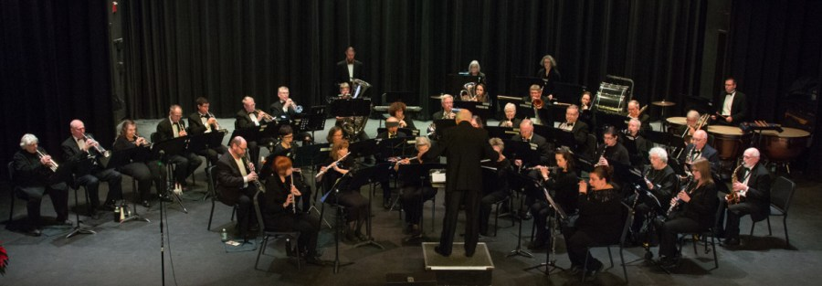 The Cape Cod Concert Band on stage