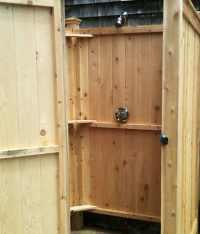 Outdoor Shower Enclosures   Cape Cod Shower Kits
