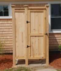 Outdoor Showers Designs Enclosures | Plans Ideas