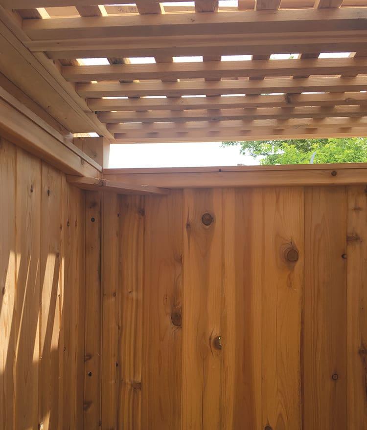 Cedar Pergola Roof Outdoor Shower Privacy Cape Cod