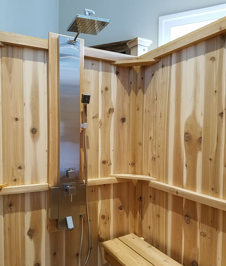 Outdoor Shower Enclosure Cedar Showers Kits Outdoor