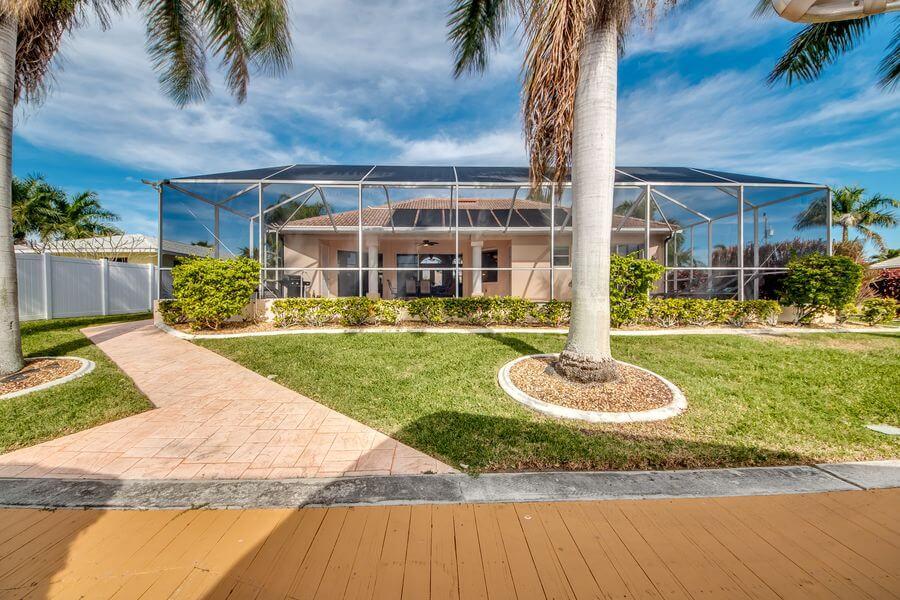 Hinterhaus Ansicht ferienhaus Villa Tao in Cape Coral